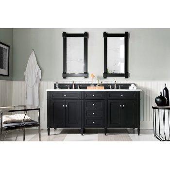 Black Onyx 3cm Carrara Marble Top Front View
