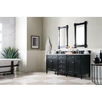Black Onyx 3cm Carrara Marble Top Angle View