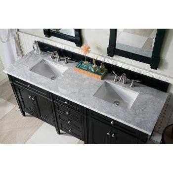Black Onyx 3cm Carrara Marble Top Overhead View