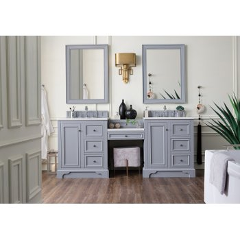 Double Bathroom Vanity Set With Makeup