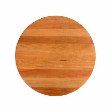 "John Boos R-Board Collection Cutting Board, Reversible, 18"" Diameter x 1-1/2"" Thick, Cherry Edge Grain"