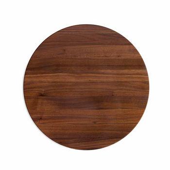 "John Boos R-Board Collection Cutting Board, Reversible, 18"" Diameter x 1-1/2"" Thick, Walnut Edge Grain"