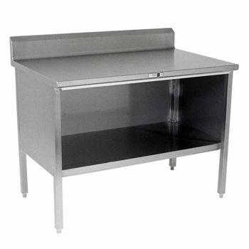"""Work Table with 5"""" Riser & Open Front"""