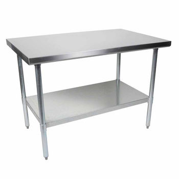 Work Tables John Boos Stainless Steel Stallion Work Tables - Stainless steel table accessories