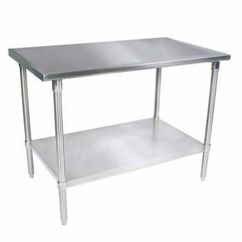 ST4-GS Series 14-Gauge Stainless Steel Flat Top Work Table