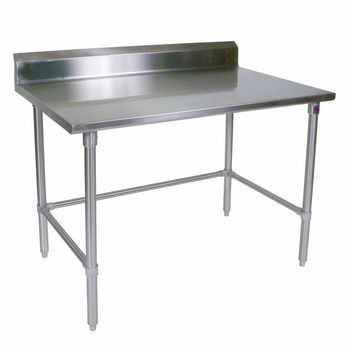 ST4R5-SB Series 14-Gauge Stainless Steel Work Table w/ Riser