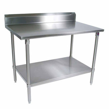 ST4R5-SS Series 14-Gauge Stainless Steel Work Table w/ Riser