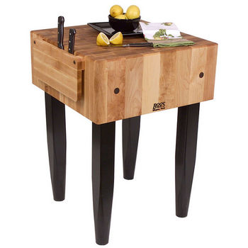 John Boos PCA Butcher Blocks with Knife Holder