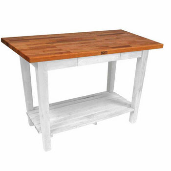 Alabaster Oak Table w/ 1 Shelf