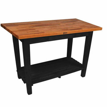 Black Oak Table w/ 1 Shelf