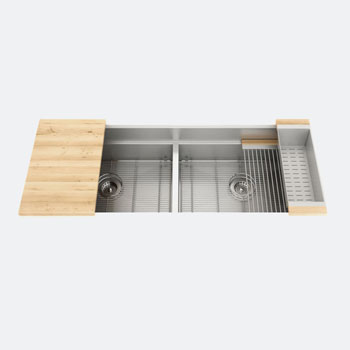 JULIEN Smart Station Double Bowl Sink