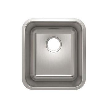 Julien Builder Stainless Steel Undermount Sink, 15-3/4''W x 17-3/4''D x 9''H