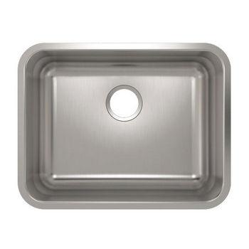 Julien Builder Stainless Steel Undermount Sink, 22-3/4''W x 17-3/4''D x 9''H