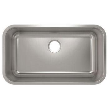 Julien Builder Stainless Steel Undermount Sink, 30-3/4''W x 17-3/4''D x 9''H