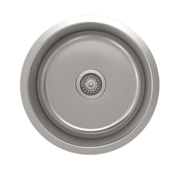 Julien Builder Stainless Steel Undermount Sink, 18-1/8''Diameter x 9''H