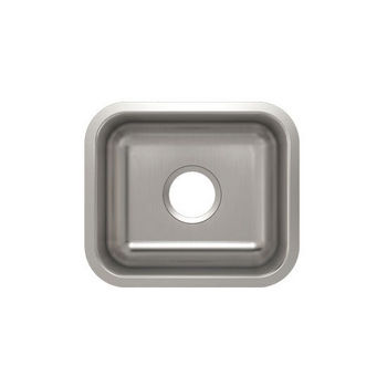 Julien Builder Stainless Steel Undermount Sink, 14-3/4''W x 12-3/4''D x 9''H