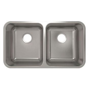 Julien Builder Stainless Steel Undermount Sink, 30-7/8''W x 17-3/4''D x 9''H