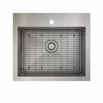 25'' dualmount kitchen sink with grid
