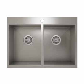 31'' topmount sink with double bowl