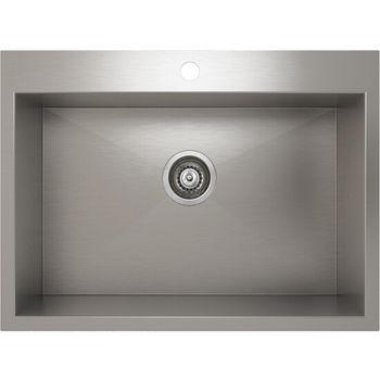 Julien Prochef Proinox Collection Stainless Steel Single Bowl Topmount Kitchen Sink 27 W X 20 D X 9 H