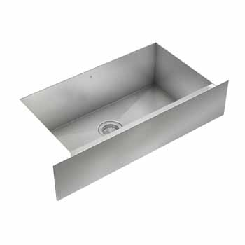 "JULIEN ProInox H0 Collection 33"" Undermount with Apron Front Single Bowl Kitchen Sink in Stainless Steel Finish"