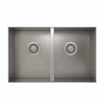 31'' undermount sink with double bowl