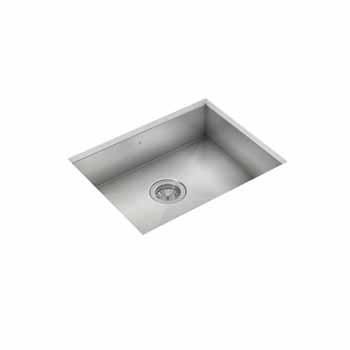 "JULIEN ProInox H0 Collection ADA Undermount 23"" Single Bowl Kitchen Sink in Stainless Steel"