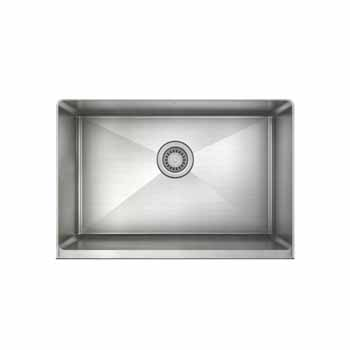 "JULIEN ProInox H75 Collection 28"" Undermount with Apron Front, Single Bowl Kitchen Sink in Stainless Steel"