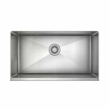 "JULIEN ProInox H75 Collection 33"" Undermount with Apron Front, Single Bowl Kitchen Sink in Stainless Steel"