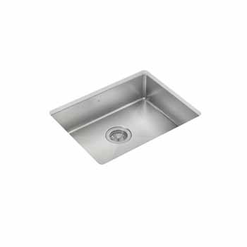 "JULIEN ProInox H75 Collection ADA Undermount 23"" Single Bowl Kitchen Sink in Stainless Steel"