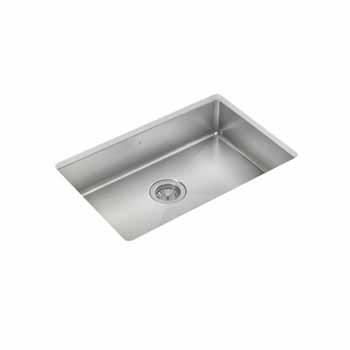 "JULIEN ProInox H75 Collection ADA Undermount 27"" Single Bowl Kitchen Sink in Stainless Steel"