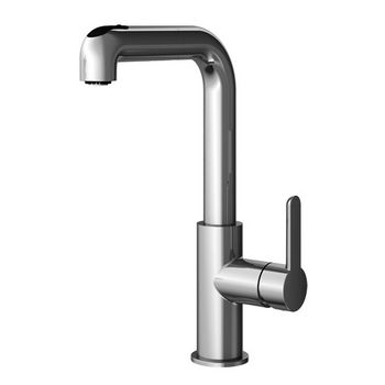Julien Latitude Pull Out Kitchen Faucet with Dual Spray, Polished Chrome