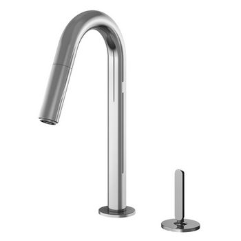 Julien Apex Prep Pull Down Bar Faucet with Remote Single Lever, Polished Chrome