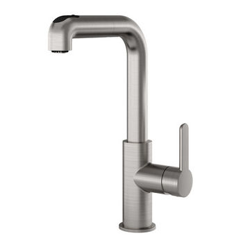 Julien Latitude Pull Out Kitchen Faucet with Dual Spray, Brushed Nickel
