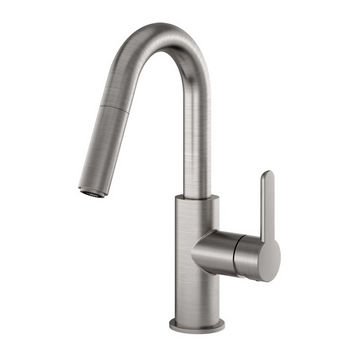 Julien Apex Prep Pull Down Bar Faucet, Brushed Nickel