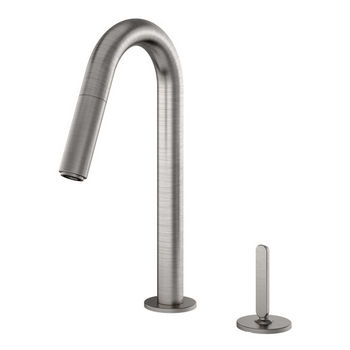 Julien Apex Prep Pull Down Bar Faucet with Remote Single Lever, Brushed Nickel