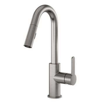 Julien Apex Pull Down Kitchen Faucet with Dual Spray, Brushed Nickel