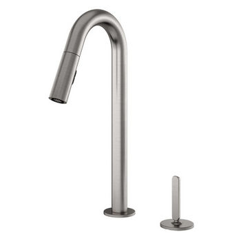Julien Apex Pull Down Kitchen Faucet with Dual Spray & Remote Single Lever, Brushed Nickel