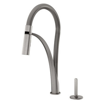 Julien Abyss Professional Kitchen Faucet with Dual Spray & Remote Single Lever, Brushed Nickel