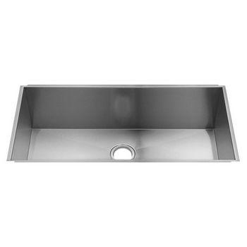 Julien UrbanEdge Collection Undermount Kitchen Sink with Single Bowl, 16 Gauge Stainless Steel