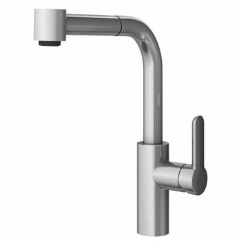 JULIEN Pure Contemporary Kitchen Faucet with Pull-Down Sprayhead in Polished Chrome