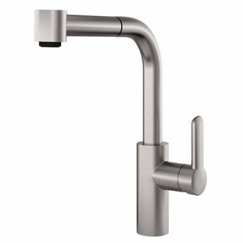 JULIEN Pure Contemporary Kitchen Faucet with Pull-Down Sprayhead in Brushed Platinum
