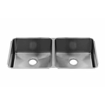 JULIEN Classic Collection Undermount Sink with Double Bowl, 16 Gauge Stainless Steel
