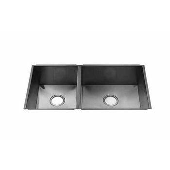 JULIEN UrbanEdge Collection Undermount Sink with Double Bowl, Larger Right Bowl, 16 Gauge Stainless Steel