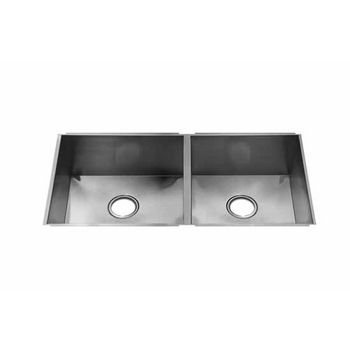 JULIEN UrbanEdge Collection Undermount Sink with Double Bowl, Larger Left Bowl, 16 Gauge Stainless Steel