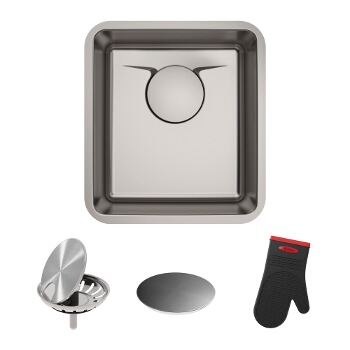 "17"" Sink w/ Included Items"