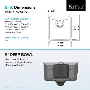 "17"" Sink Dimensions"