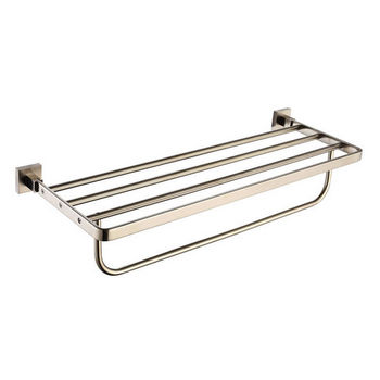 Kraus Aura Bath Towel Rack with Towel Bar, Brushed Nickel