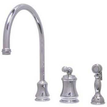 Kingston Brass Restoration Widespread Kitchen Faucet with Brass Sprayer
