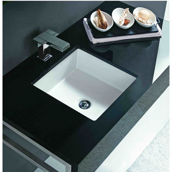 Bathroom Sinks - Undermount Vitreous China Square Sink by Cantrio ...
